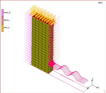 Figure 4.) 3D global remeshing of an elastomer.