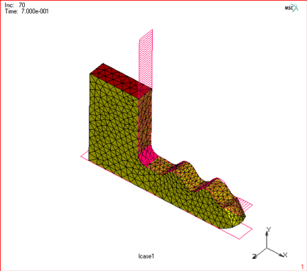 Figure 5.) 3D global remeshing of an elastomer.